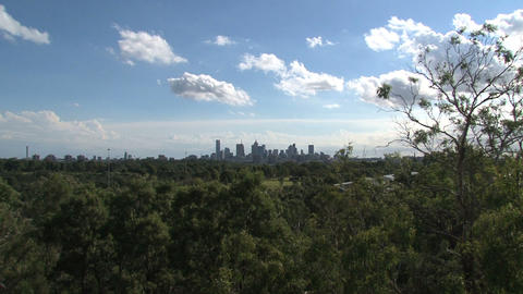 Melbourne skyline zoom out Footage