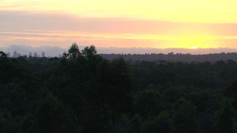 Melbourne skyline sunset Stock Video Footage