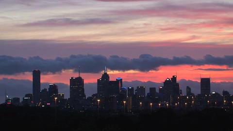 Melbourne skyline time lapse Stock Video Footage