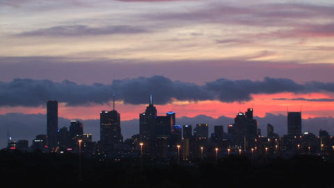 Melbourne skyline time lapse Footage