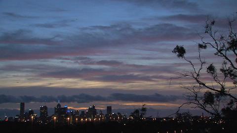 Melbourne skyline Stock Video Footage
