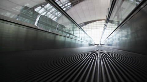 Movement on walkway, the view from the bottom Stock Video Footage