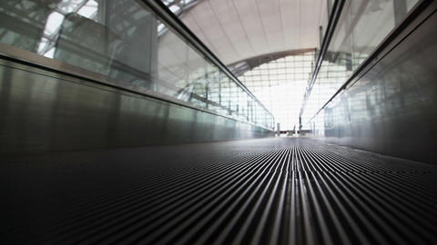 Movement On Walkway, The View From The Bottom stock footage