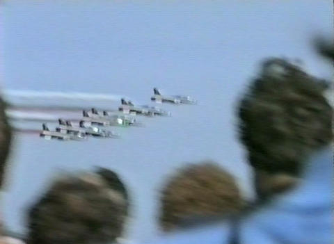 Ramstein Airshow Disaster start show 10904 Stock Video Footage