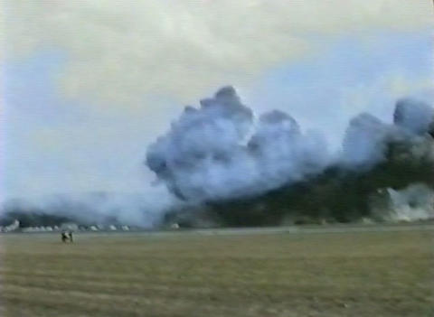 Ramstein Airshow Disaster Crash 10906 stock footage