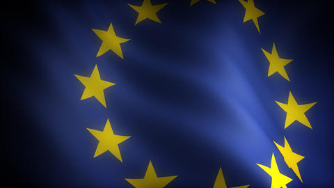 Flag of European Community Stock Video Footage