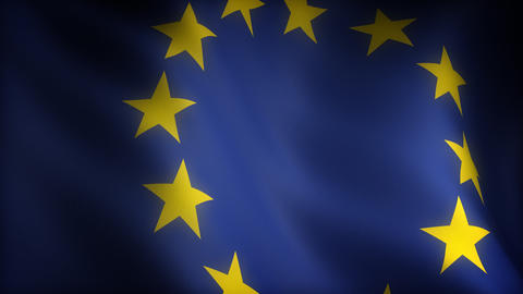 Flag Of European Community stock footage