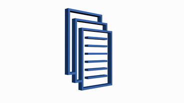 Rotation of the Documents icon.storage,paper,data,icon,archive,3d,information Animation