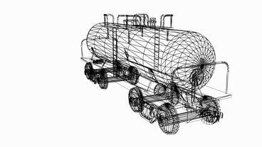 Rotation of 3D train tank.Tanker,locomotive,Oiltank,railroad,train,transportatio Animation