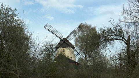 historic windmill timelapse Stock Video Footage