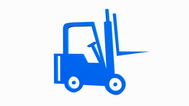 Rotation Of 3D Forklift.truck,vehicle,lift,storage,transportation,warehouse,carg stock footage