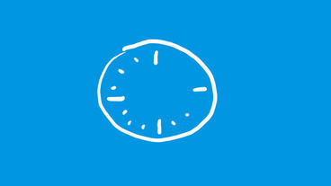 Stick figure of alarm clock,Hand-drawn video... Stock Video Footage