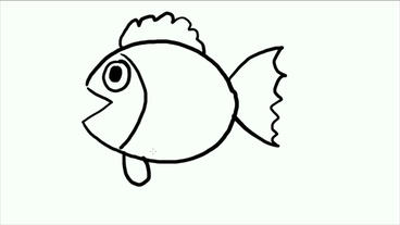 cartoon fish spit bubbles,Hand-painted video... Stock Video Footage