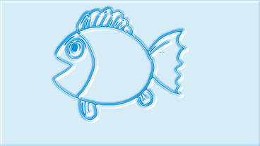 3d cartoon fish spit bubbles,Hand-painted video... Stock Video Footage