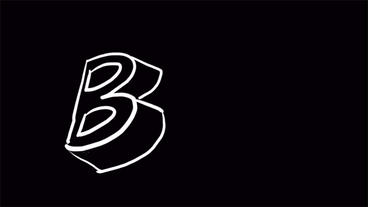 3d letter B on blackboard,Hand drawing video... Stock Video Footage