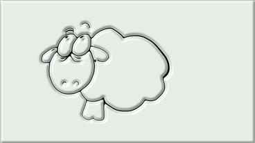 cartoon sheep,mutton,cookie pattern,cream,Hand painted... Stock Video Footage