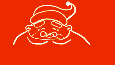 drawing of Christmas Santa Claus,Hand painting video... Stock Video Footage