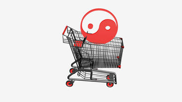 Shopping cart with the... Stock Video Footage