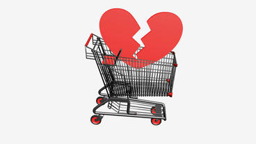 Shopping Cart and heart.Sad,retail,buy,cart,shop,basket,sale,customer,discount,s Animation