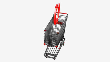 Shopping cart and recycling... Stock Video Footage