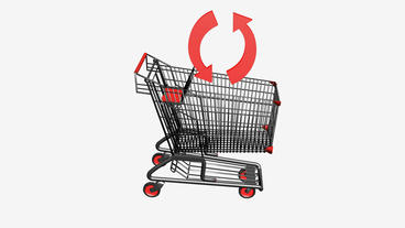 Shopping cart and recycling icon.retail,buy,cart,shop,basket,sale,customer,super Animation