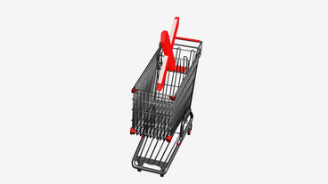 Shopping Cart and crosses... Stock Video Footage