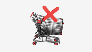Shopping Cart and crosses icon.retail,buy,isolated,cart,design,shop Animation