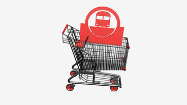 Shopping cart and transport.retail,buy,cart,design,shop,basket,sale,customer,dis Animation