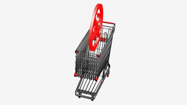 Shopping Cart and No... Stock Video Footage