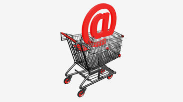 Shopping Cart and @... Stock Video Footage