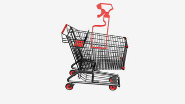 Shopping Cart and Spray bottle.retail,buy,cart,shop,basket,sale,customer,superma Animation