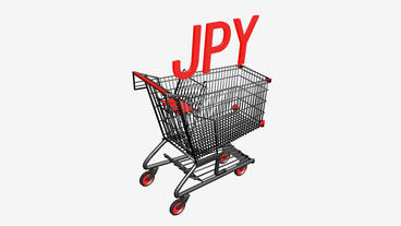 Shopping Cart with JPY japan... Stock Video Footage