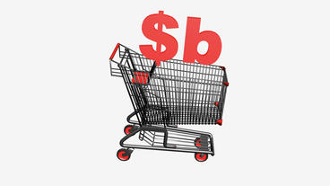 Shopping Cart with $b Bolivianos... Stock Video Footage