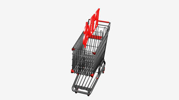 Shopping Cart with RD$ Pesos... Stock Video Footage
