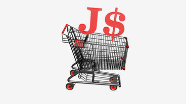 Shopping Cart with J$ Dollars money.retail,buy,cart,shop,basket,sale,discount,su Animation