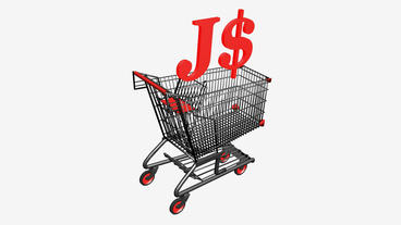 Shopping Cart with J$ Dollars... Stock Video Footage