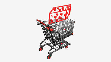 Shopping Cart and Gift... Stock Video Footage