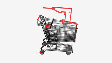 Shopping Cart with Drill.retail,buy,cart,shop,basket,sale,supermarket,market,mal Animation