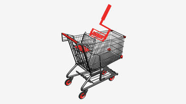 Shopping Cart and Paint... Stock Video Footage