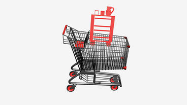 Shopping Cart with Table... Stock Video Footage
