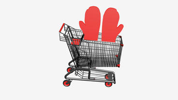 Shopping Cart and Gloves.retail,buy,cart,design,shop,basket,sale,discount,superm Animation