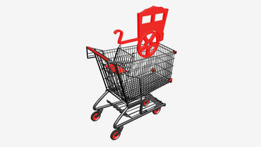 Shopping Cart and RV... Stock Video Footage