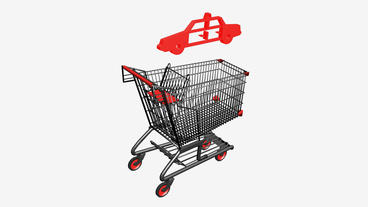 Shopping Cart and Police... Stock Video Footage