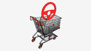 Shopping Cart and Steering... Stock Video Footage