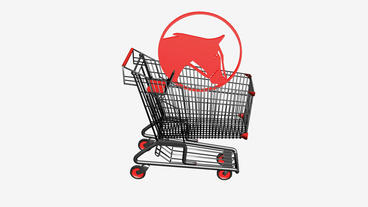 Shopping Cart and horse.retail,buy,cart,shop,basket,sale,supermarket,market Animation