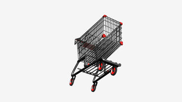 Rotation of the Shopping Cart.retail,buy,isolated,cart,design,shop,basket,sale,c Animation