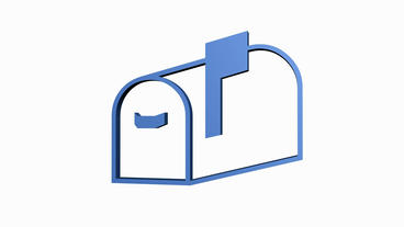 Rotation of the Mailbox.box,message,post,envelope,letter,news,stamp,package,open Animation