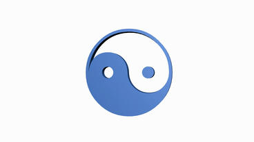Rotation of yin-yang symbol.culture,symbol,yang,buddhism,balance,ying,chinese,ze Animation