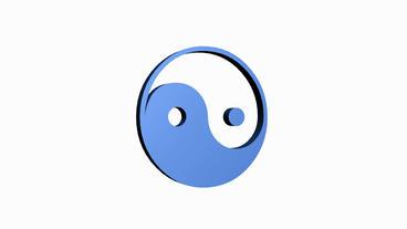 Rotation of yin-yang... Stock Video Footage