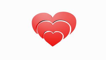Rotation of 3D heart.love,red,symbol,heart,valentine,romance,illustration,holida Animation